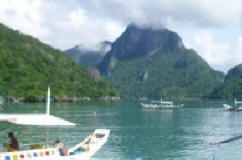 Beautiful rock formations in Palawan